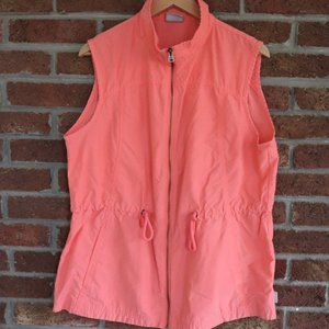 Ladies Columbia Vest * Size XL * Coral